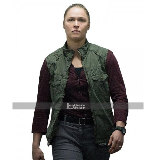 2018 Mile 22 Sam Snow Ronda Rousey Green Vest