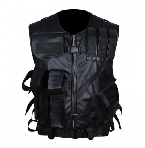 Wrestler Colby Daniel Lopez Tactical Leather Vest